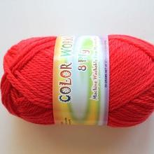 Colorworks 8ply fine merino wool - bright red 442