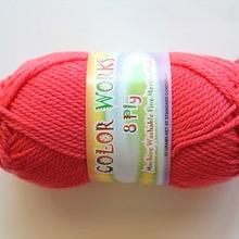 Colorworks 8ply fine merino wool - watermelon 441