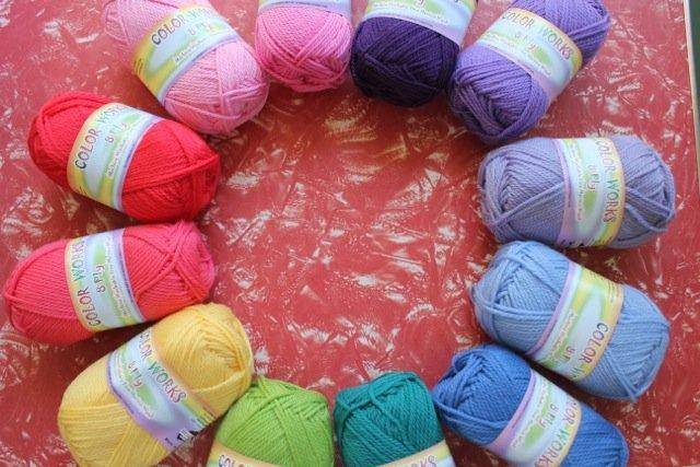 Colorworks 8ply fine merino wool - watermelon 441