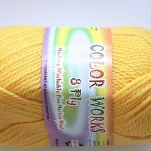 Colorworks 8ply fine merino wool - yellow 445