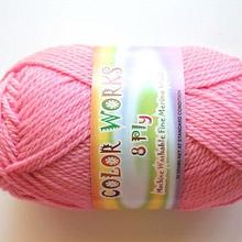 Colorworks 8ply fine merino wool -mid pink 427