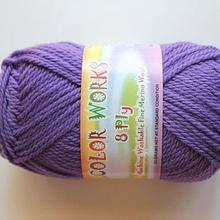 Colorworks 8ply fine merino wool -mid purple 425