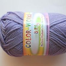 Colorworks 8ply fine merino wool - lilac mauve 465