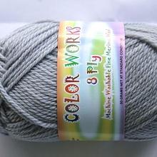 Colorworks 8ply fine merino wool - grey 418