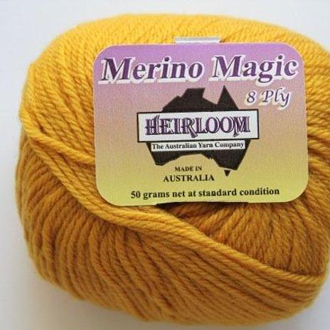 Heirloom Merino Magic 8ply - mustard 509