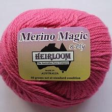 Heirloom Merino Magic 8ply - raspberry 511