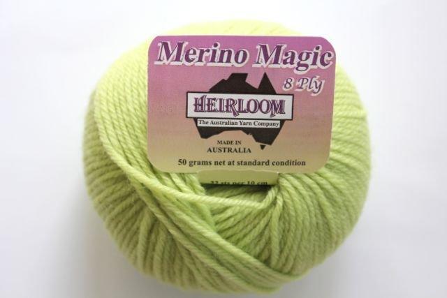 Heirloom Merino Magic 8ply - celery 234