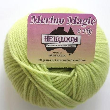 Heirloom Merino Magic 8ply - celery 234