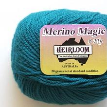 Heirloom Merino Magic 8ply - peacock blue 232