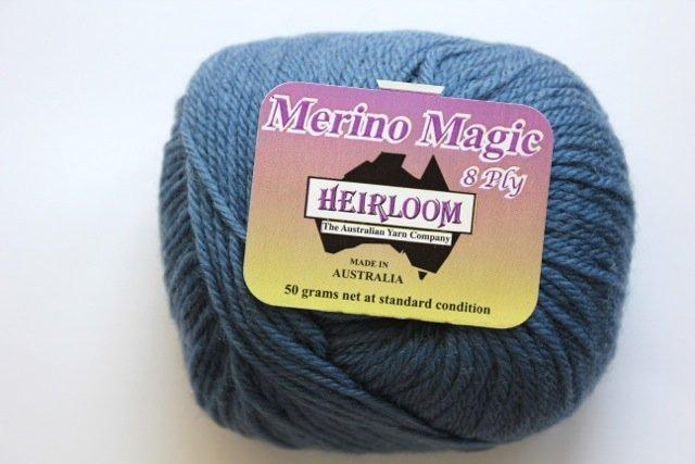 Heirloom Merino Magic 8ply - sea blue 217