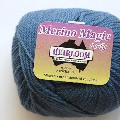 Heirloom Merino Magic 8ply - sea blue 217