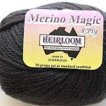Heirloom Merino Magic 8ply - dark grey 204
