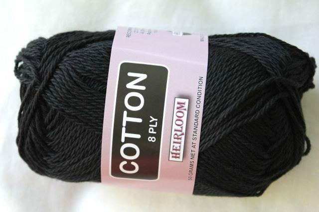 Heirloom Cotton 8ply -black 601