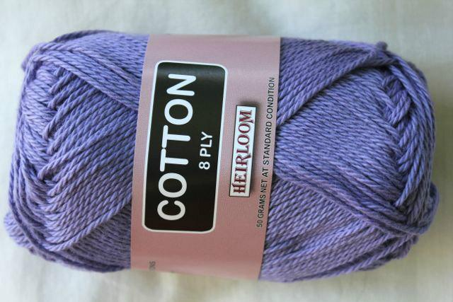 Heirloom Cotton 8ply -lavender 610