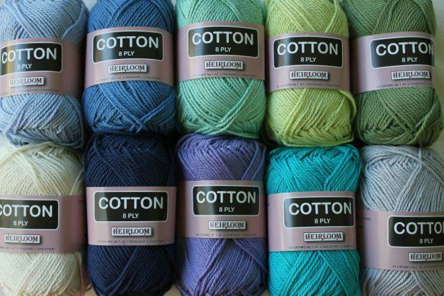 Heirloom Cotton 8ply -aqua 606