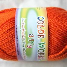 Colorworks 8ply fine merino wool - pumpkin 413