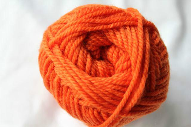 Colorworks 8ply fine merino wool - pumpkin 413