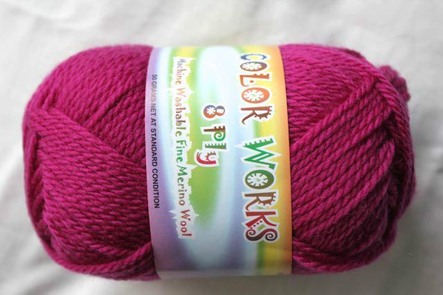 Colorworks 8ply fine merino wool - magenta 422
