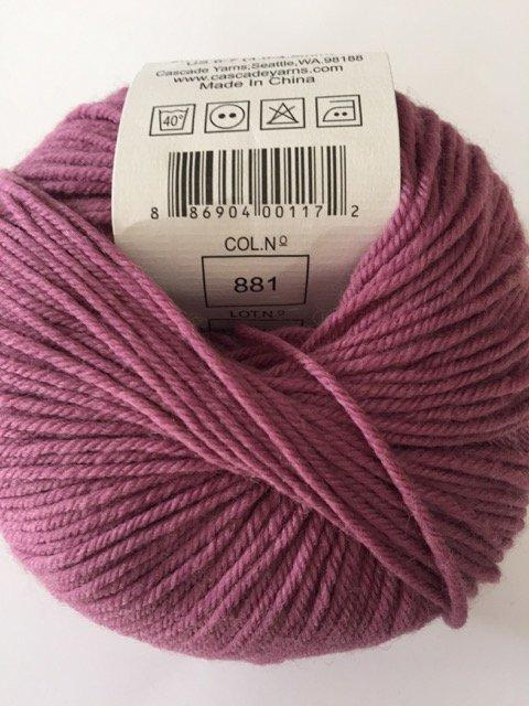 220 Superwash - Then There's Mauve 881