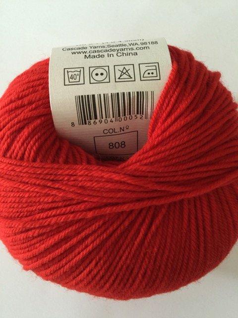 220 Superwash - Sunset Orange 808