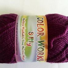 Colorworks 8ply fine merino wool - warm violet 419