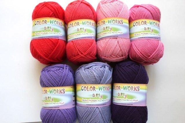 Colorworks 8ply fine merino wool - raspberry 415