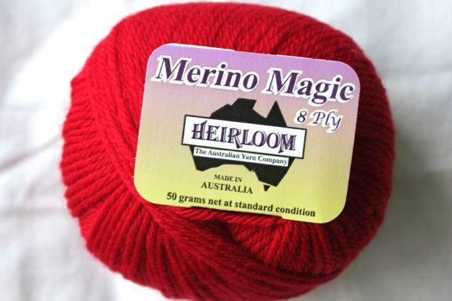 Heirloom Merino Magic - Bright Red 512