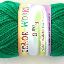 colorworks 8ply fine merino wool - elf green 431