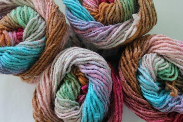 Noro Kureyon - 348 ( pinks, blues, browns, mint)