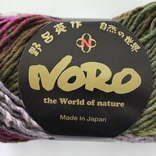 Noro Kureyon - 188 ( purples, mauve, black, olive)