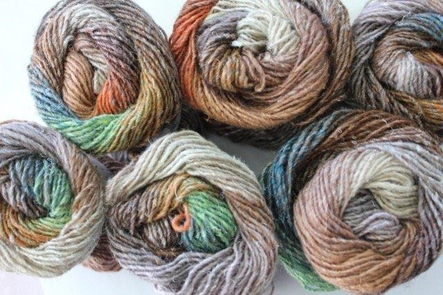 Noro Silk Garden 417 (browns, greens, greys)