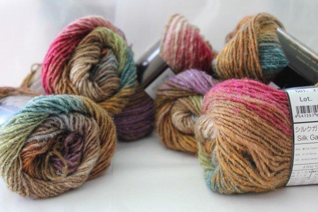 Noro Silk Garden - 279 ( browns, purples,greens, pink)