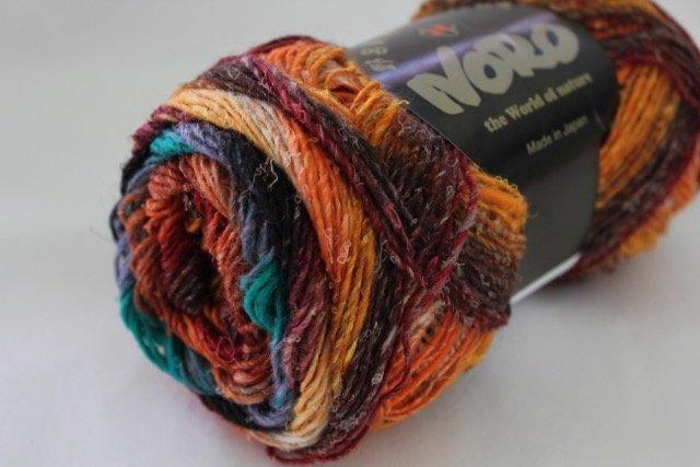 Noro Silk Garden Sock - S421(orange, browns greens)