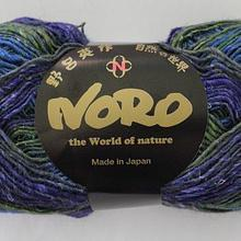 Noro Silk Garden Sock - S354 (greens, navy blue, mauve)