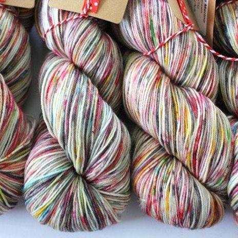 Kate Selene 4ply sock - Liquorice Allsorts