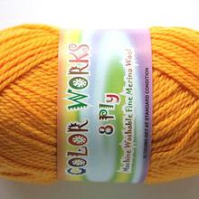 colorworks 8ply fine merino wool - gold finch 449