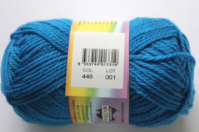 colorworks 8ply fine merino wool - bondi blue 446