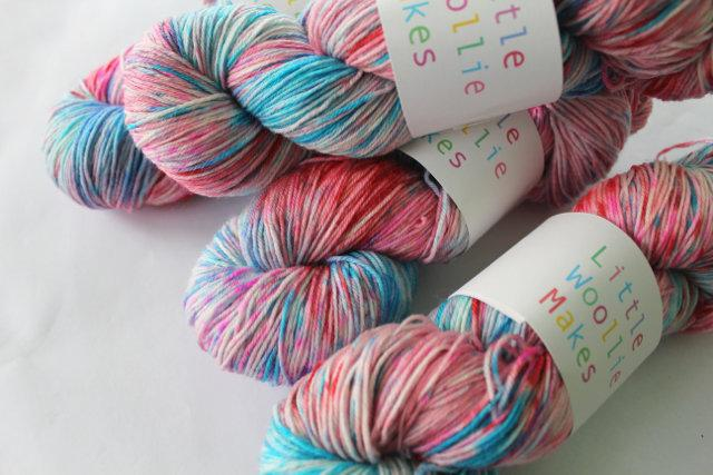 Little Woollie Makes Handpainted 4ply merino - Lolly Shop