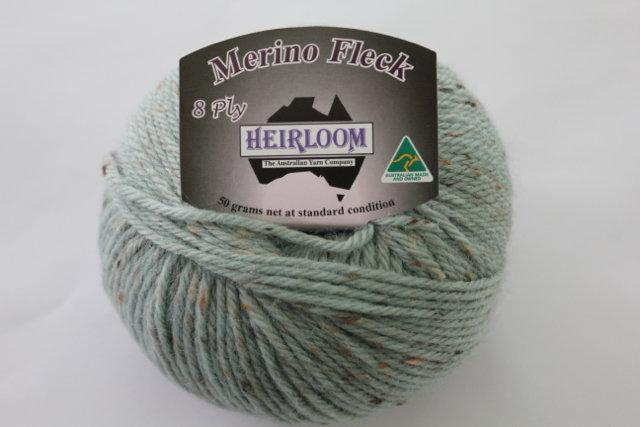 Heirloom Merino Fleck 8ply - mint 546