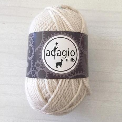 Adagio Mills 8ply Alpaca - Natural White