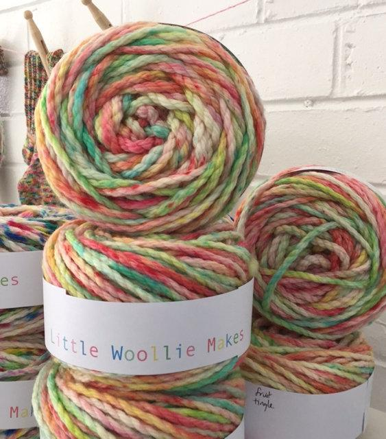 Little Woollie Makes Hand dyed 40ply - Fruit tingle