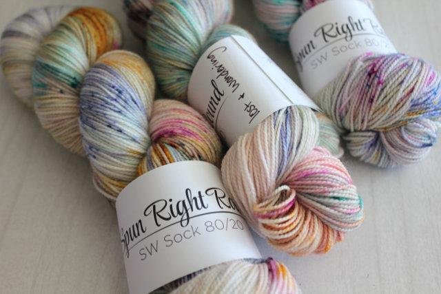 Spun Right Round SW Sock 80/20 - Lost and Wandering