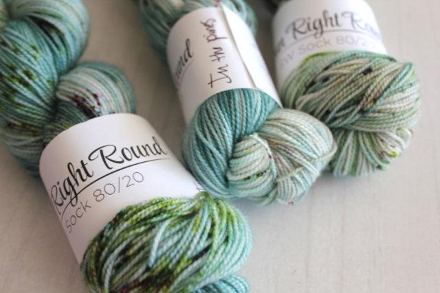 Spun Right Round SW Sock 80/20 - In The Pines