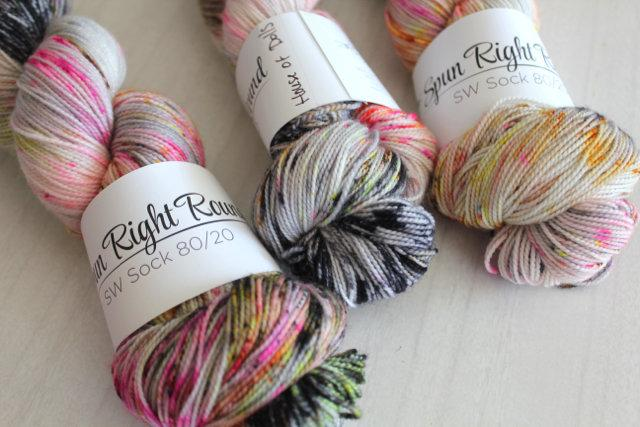 Spun Right Round SW Sock 80/20 - House of Dolls