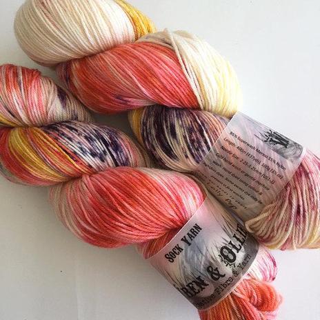 Wren and Ollie Sock Yarn - Lollypop
