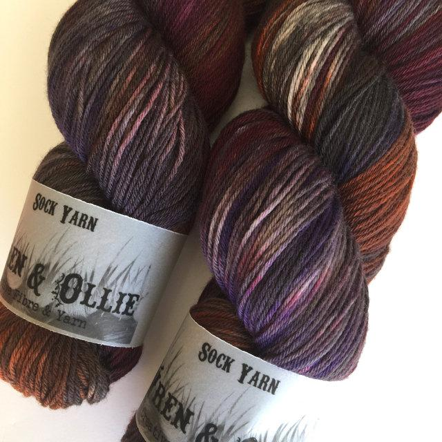 Wren and Ollie Sock Yarn - chilli churros