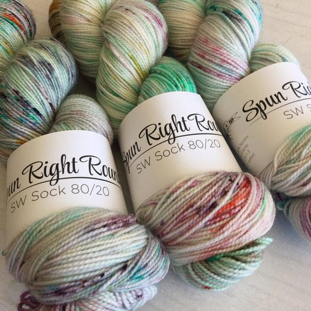 Spun Right Round SW Sock 80/20 - Space Highway