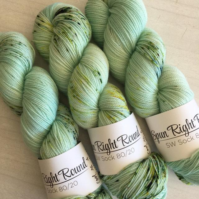 Spun Right Round SW Sock 80/20 - Cool as a Cucumber