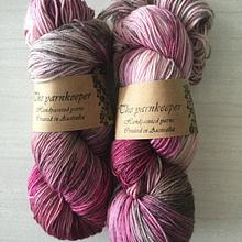 The Yarnkeeper Hand Painted sock - plum