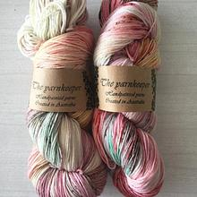The Yarnkeeper Hand Painted sock - mariposa